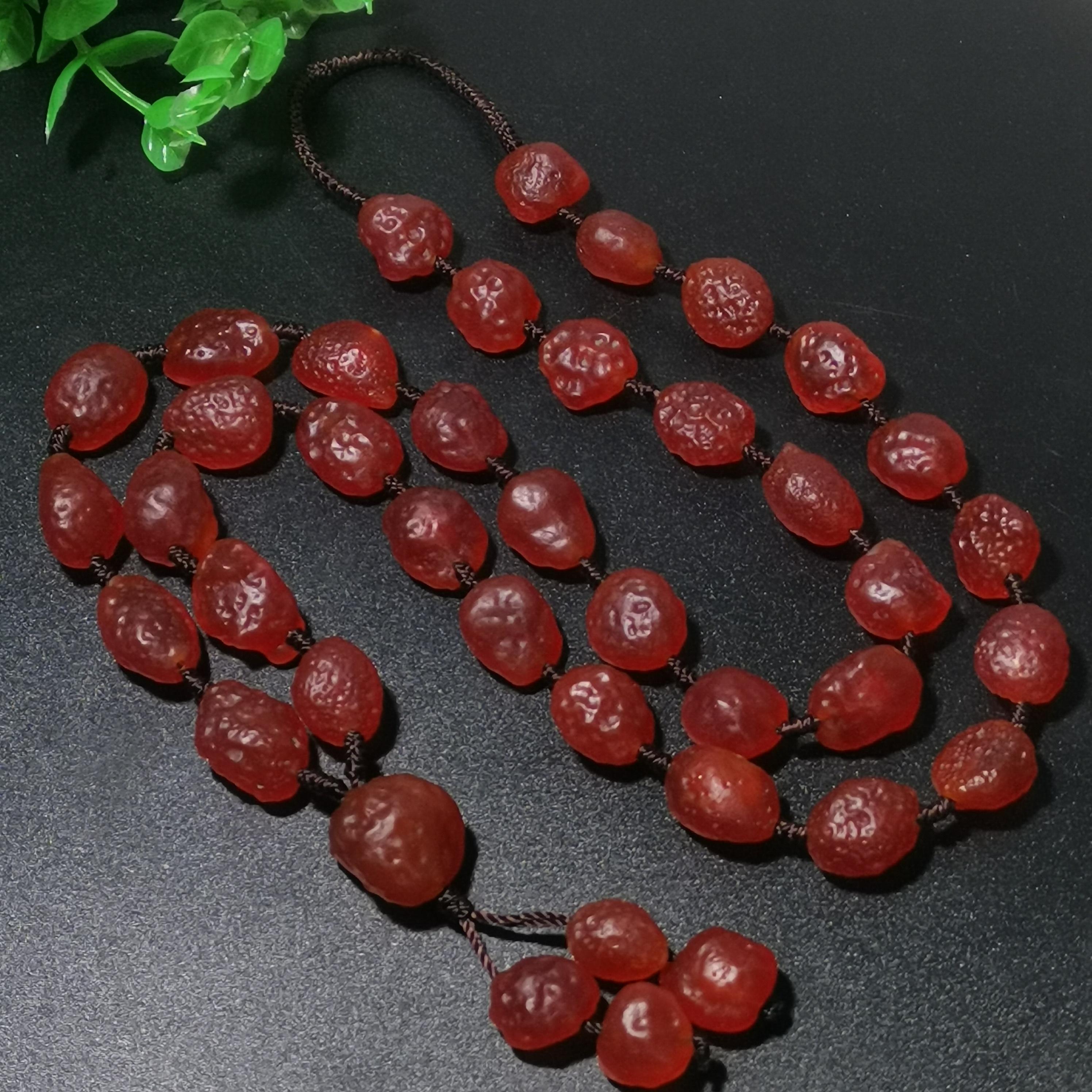 樱桃红玛瑙项链